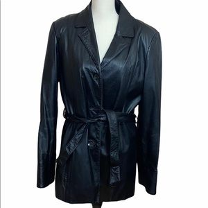 Wilson's Leather Women's Belted Coat Size Large